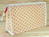 Косметичка Желтая в горошек 24,5Х15Х8СМ