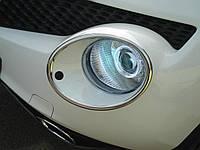 Хром накладки на фары Nissan Juke 2011- хромированный пластик