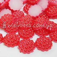 Плоский пластиковый декор, красный, 10 мм (10 шт)