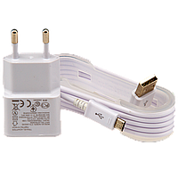 Сетевая зарядка USB 5V 2A LogicPower LP АС-003 + кабель USB - Micro USB