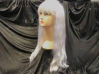 Парик ровный белый 50 см (6 шт)-16193