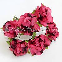 """Букет роз """"Аве Мария"""" 3,5 см, омбре малиновый+коричневый"""