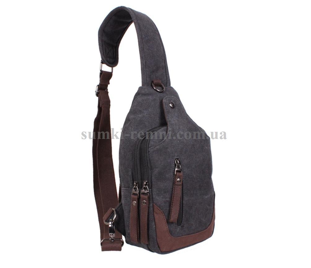 Сумка мини-рюкзак через плечо черная