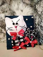 Поздравительная открытка Веселые коты