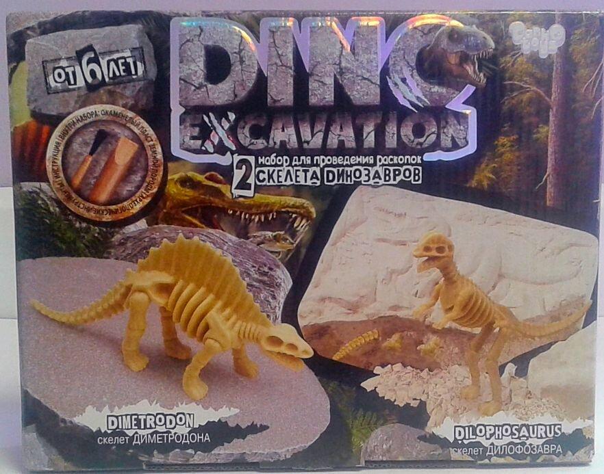 Раскопки Dino excavation мини 2 в 1 DEX-01-02 Danko-Toys Украина