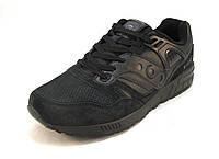 Кроссовки мужские Saucony замшевые черные (р.41,42,43,44,45,46)
