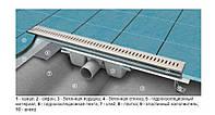 Линейный трап для душа 98,5 см ACO C-line Германия