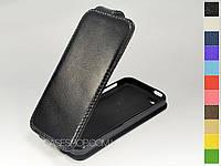 Откидной чехол из натуральной кожи для Apple iPhone 5c