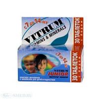 Витрум Юниор-комплекс витаминов и минералов для детей и подростков (30шт)