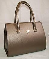 Коричневая гладкая женская каркасная сумка Prada (Прада)