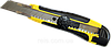 Нож усиленный с отломным лезвием HT-Tools 18 мм прорезиненная ручка