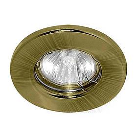 Встраиваемый светильник Feron DL10 MR16 G5.3 GAB античное золото