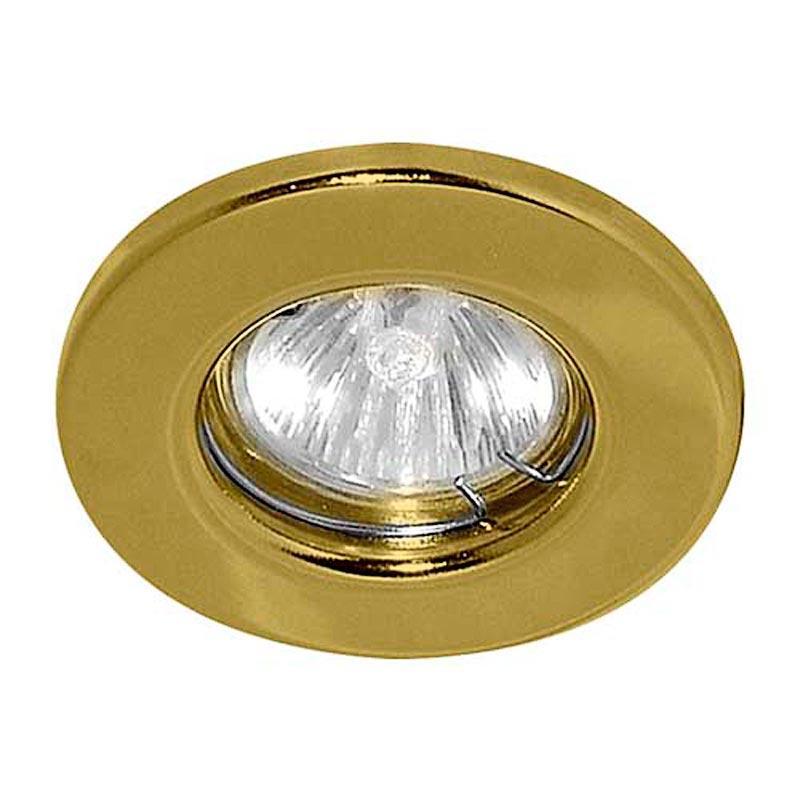 Не поворотный встраиваемый светильник Feron DL10 MR16 G5.3 GD Feron DL10 MR16 G5.3 GD золото