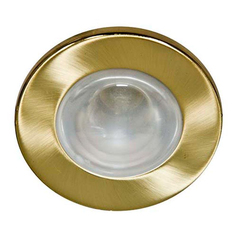 Не поворотный встраиваемый светильник Feron 1713/DL48 R50 E14 MAT GD матовое золото