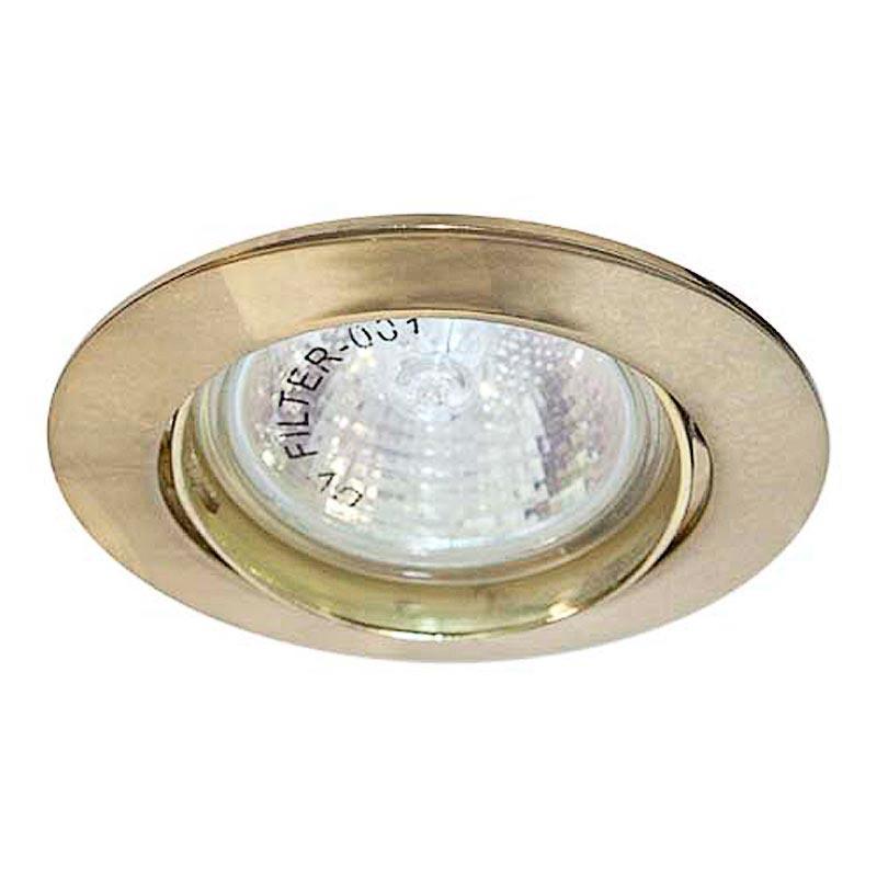 Поворотный встраиваемый светильник Feron DL308 MR16 G5.3 GD золото