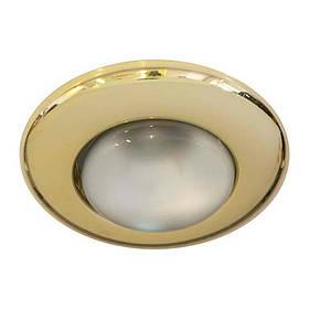 Cветильник не поворотный встраиваемый  Feron 2767 R39 E14 GOLD золото