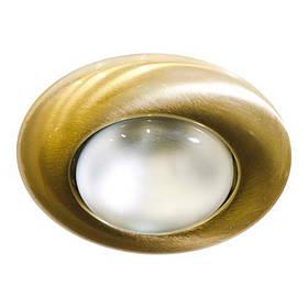 Не поворотный встраиваемый светильник «Сфера» Feron 2767 R50 E14 MAT GD матовое золото