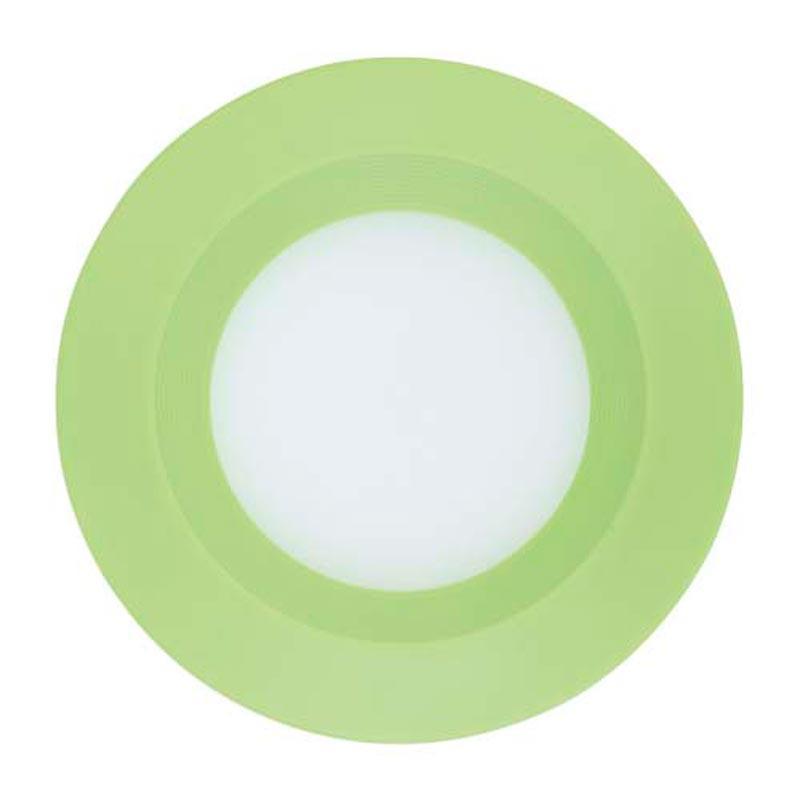 Светильник LED downlight врезной 3W Feron AL525 3W 240Lm 5000K GN зеленый пластик, нейтральный