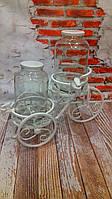 Набор Диспенсеров для лимонада (Лимонадница)  Карета (2*4,25 л.) Белый кран