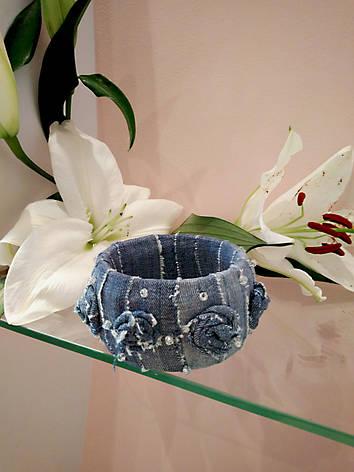 Неповторимый браслет из джинсовой ткани, фото 2