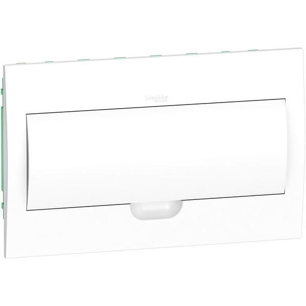 """Щит пластиковый встраиваемый 1 ряда по 18 модулей Easy9 """"Белая дверь"""""""