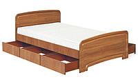 Кровать полуторная К-140С 3Я ДСП с 3 ящиками  серия Классика  (Абсолют) 1480х2030х800/600мм