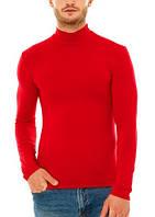 Гольф (водолазка) мужской, вискоза, красный