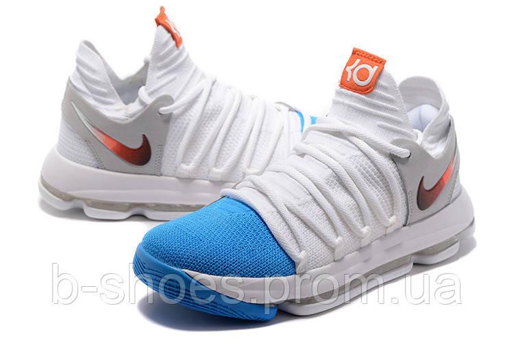 Мужские баскетбольные кроссовки Nike Zoom KD10 EP (White/Blue)