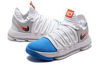 Мужские баскетбольные кроссовки Nike Zoom KD10 EP (White/Blue), фото 1
