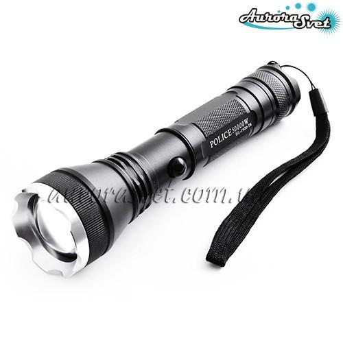 Фонарик переноснойAuroraSvet- 20, 12v, zoom(аккумулятор/батарейки). LED фонарь. Светодиодный фонарь.