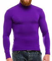 Гольф (водолазка) мужской, вискоза, фиолетовый