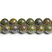 Яшма Дракона, Натуральный камень, На нитях, бусины 8 мм, Шар, 48 шт/нить