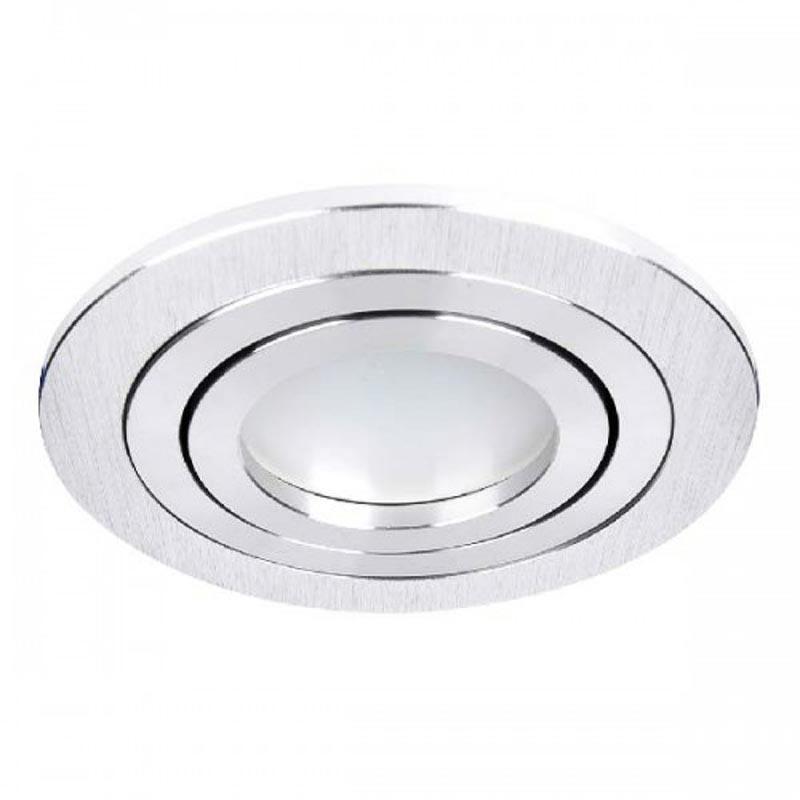 Светильник встраиваемый круг поворотный Feron DL6110 MR16 G5.3 алюминий