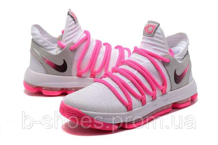 Мужские баскетбольные кроссовки Nike Zoom KD10 EP (White/Baby Pink)