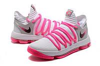 Мужские баскетбольные кроссовки Nike Zoom KD10 EP (White/Baby Pink), фото 1