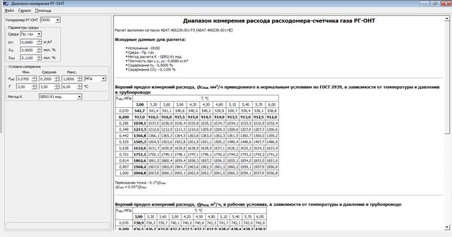 Как подобрать расходомер-счетчик газа РГ-ОНТ