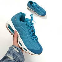 Женские кроссовки Nike Air Max 95 Premium Blue(ТОП РЕПЛИКА ААА+)