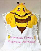 Пляжная накидка для ребенка Пончо №2246 (уп. 3 шт.)