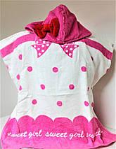 Пляжная накидка для ребенка Пончо №2246 (уп. 3 шт.), фото 3
