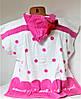 Пляжная накидка для ребенка Пончо №2246 (уп. 3 шт.), фото 2