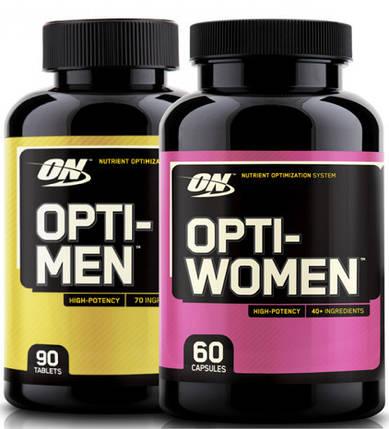 Opti-Men 90 tab + Opti-Women 60 caps, фото 2