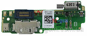 Нижняя плата с коннектором USB и микрофоном Sony Xperia XA F3111, F3112