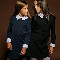 Школьное платье с воротником и манжетами