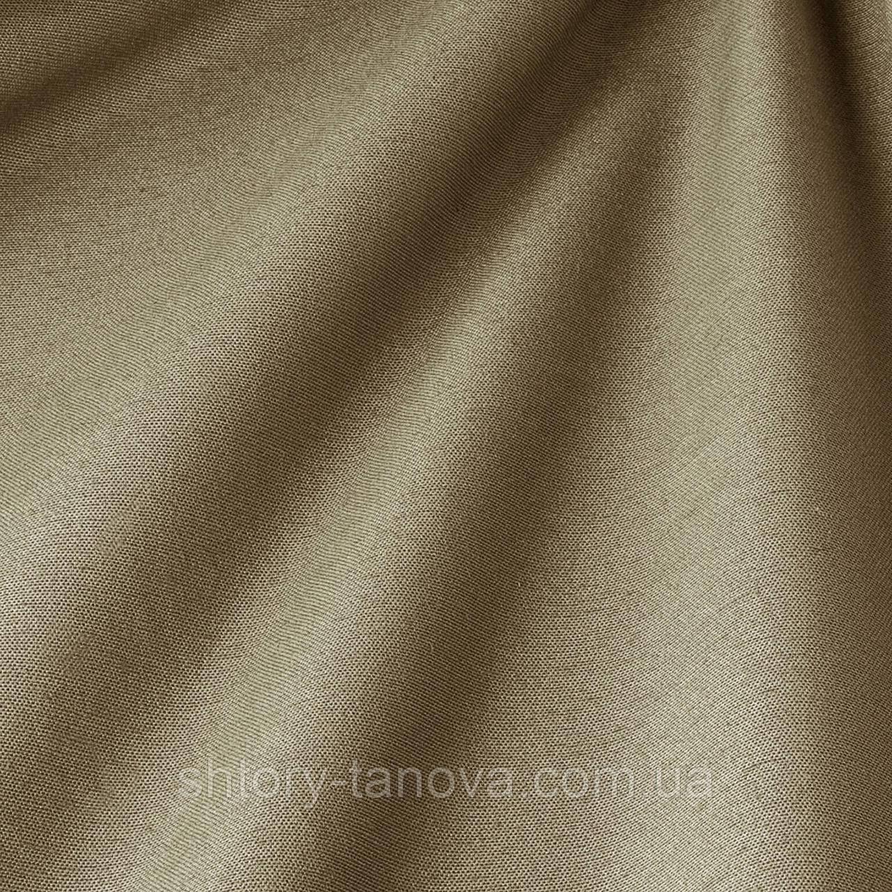 Декоративная ткань однотонная, бежево-серый