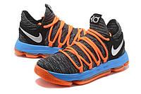 Мужские баскетбольные кроссовки Nike Zoom KD10 EP (Grey/Blue/Orange), фото 1
