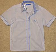 Шведка с коротким рукавом на кнопках выполнена из рубашечной ткани, хлопок. рост 122-164