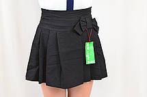 Шкільна нарядна спідниця в складку з красивим бантом, р. 116,122, фото 3