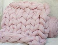 Плед из шерсти (цвет нежно-розовый) 0,8х1,2 м