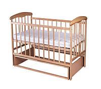 Кроватка детская Наталка ясень светлый с маятником 20009