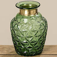 Стекляная граненая ваза